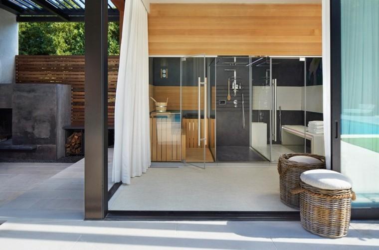 el retiro sauna bano ventanal casa diseno ideas