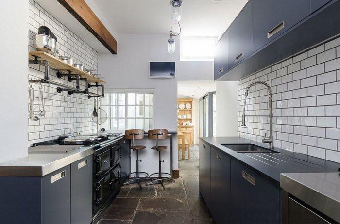 Electrodomesticos y cocinas de aspecto industrial 100 ideas - Azulejo metro cocina ...