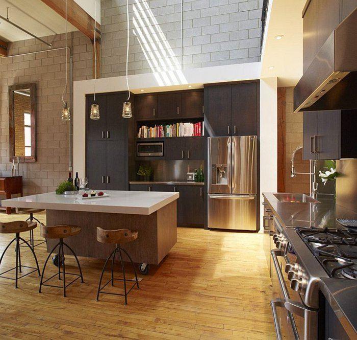 electrodomesticos cocina diseño moderno acero