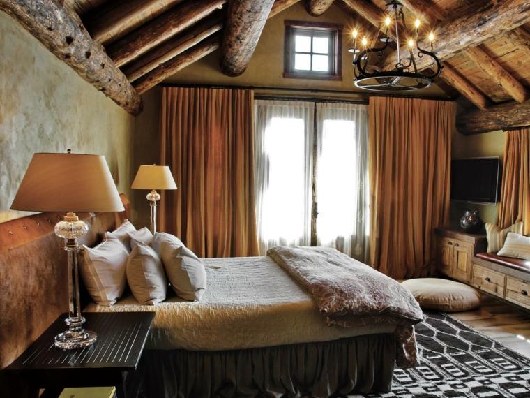 decoracion de interiores habitaciones rusticas:Habitacion diseño rústico – 50 ideas para vivir lo natural.