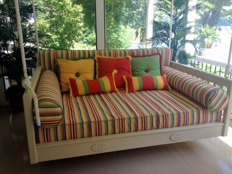 elegante rayas fresco terraza colorido