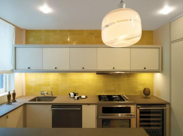 encimeras de cocina granito gris lampara ideas