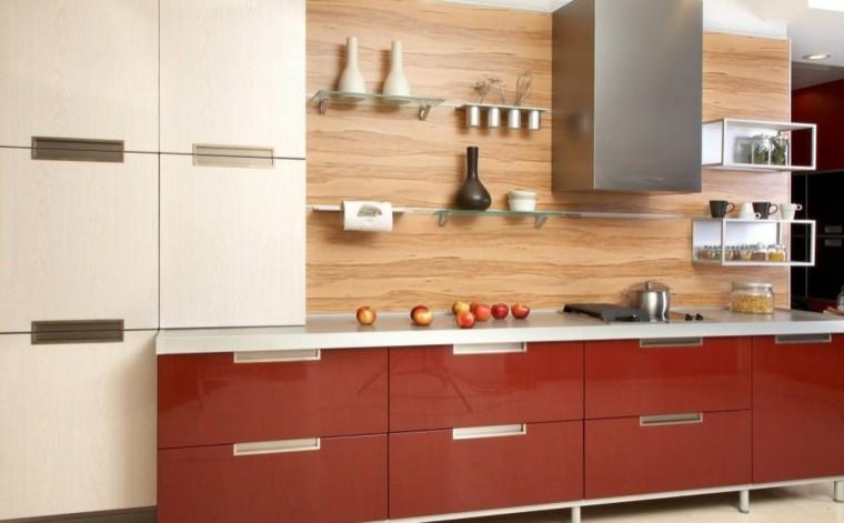 encimeras de cocina granito madera marmol ideas modernas