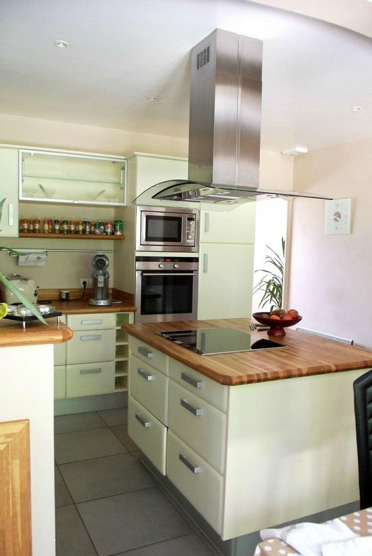 Encimeras de cocina madera maciza para la cocina - Cocinas de campana ...