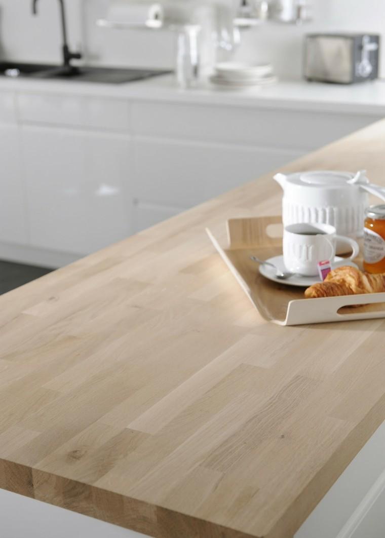 Encimeras de cocina madera maciza para la cocina for Plan de travail colore