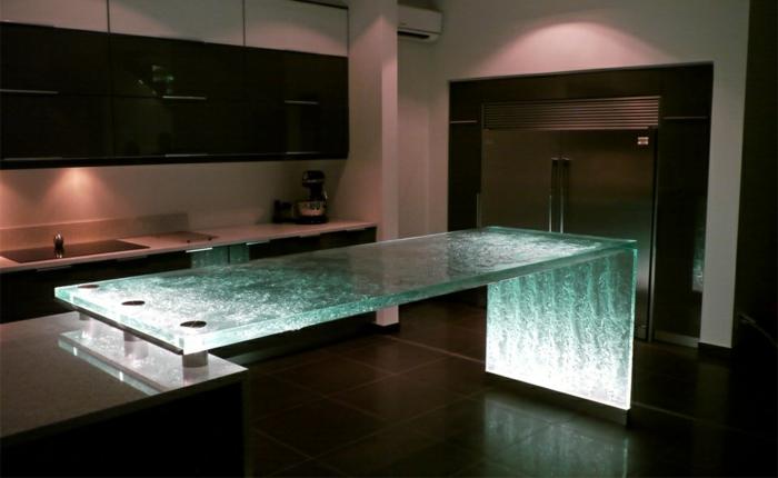 encimeras islas cocina vidrio
