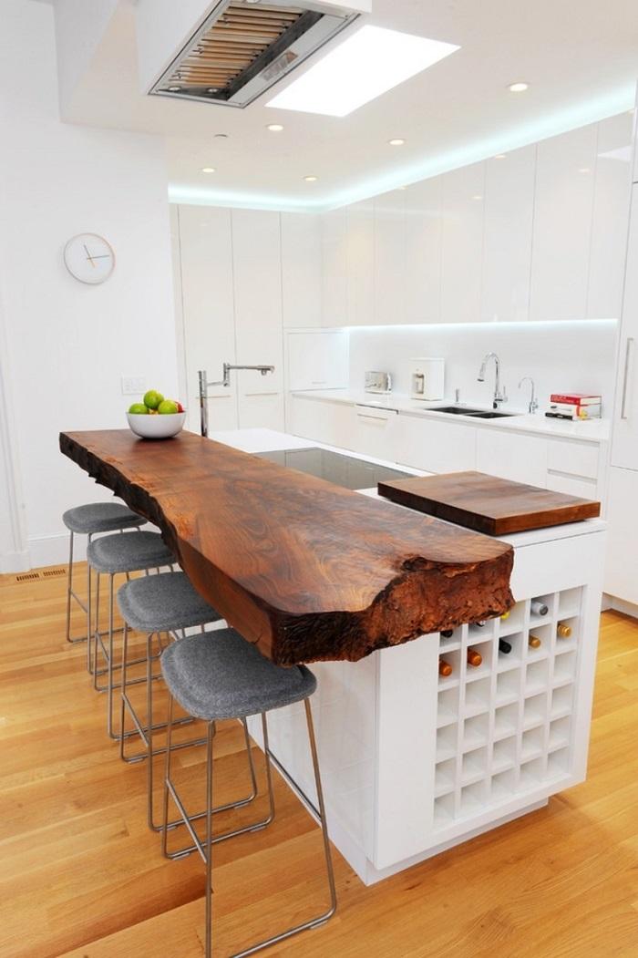 Encimeras de cocina lo ltimo en mobiliario inteligente - Encimera madera maciza ...