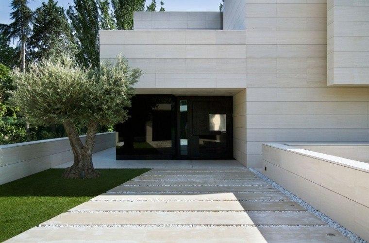 entrada casa arbol olivo camino