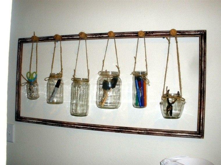 envases vidrio cuadro decoracion estante