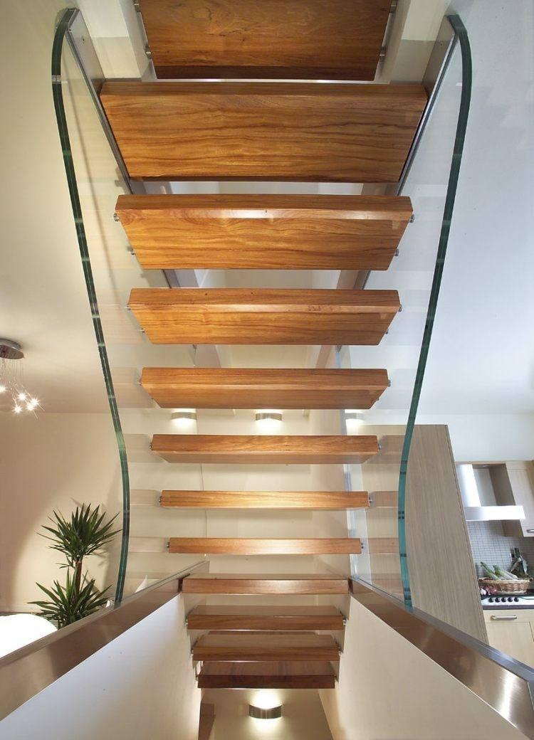 escalera minimalista moderna alta madera