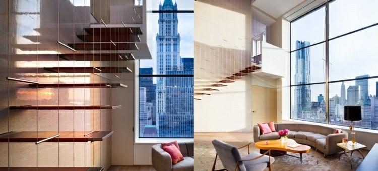 escalera moderna casa ciudad techo