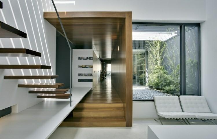 escalera moderna casa jardin mobiliario