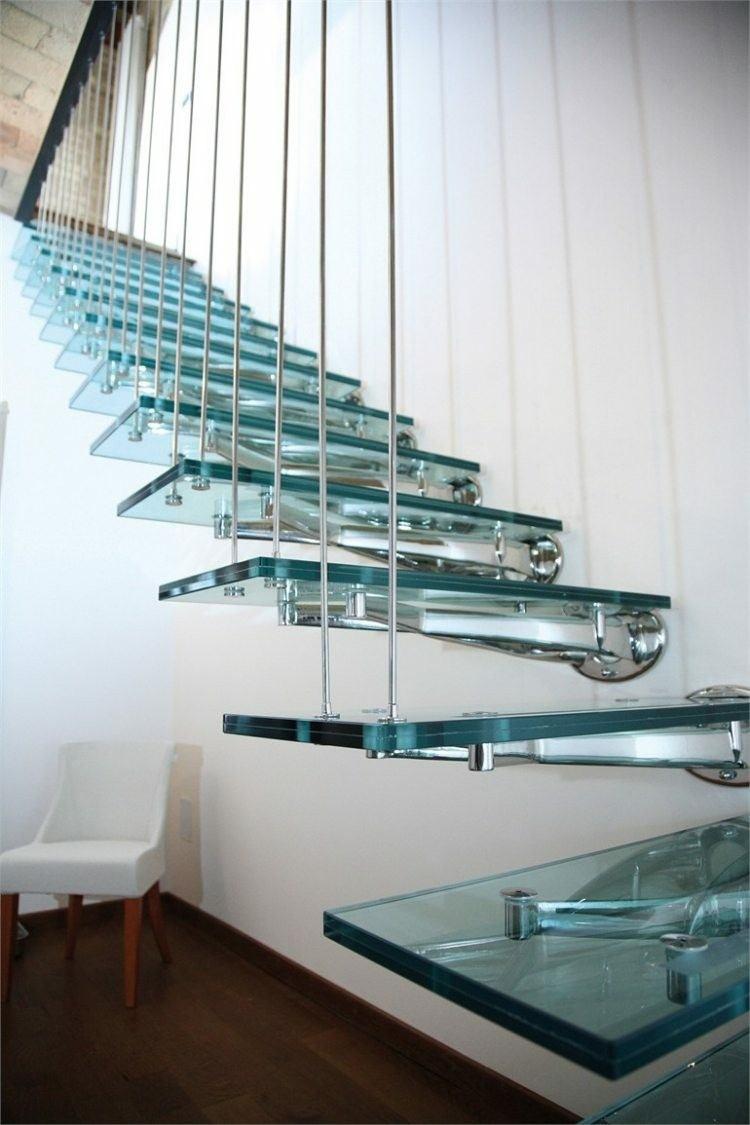 escalera moderna casa metal acero