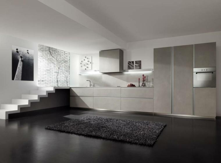 escalones led iluminacion alfombra minimalista
