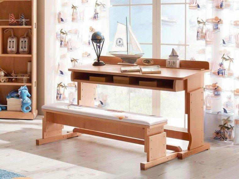 El mar inspira estas ideas de muebles de casa - Escritorio ninos ...