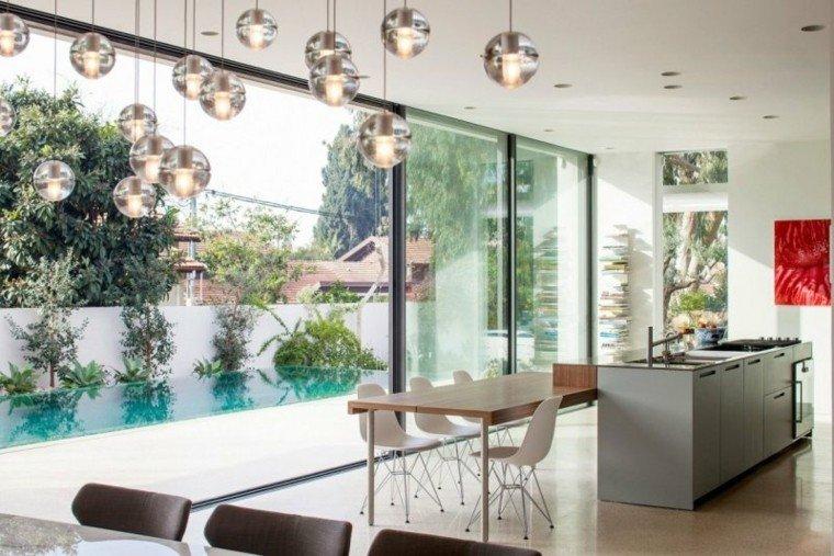 esferas variada lampara jardin cristal
