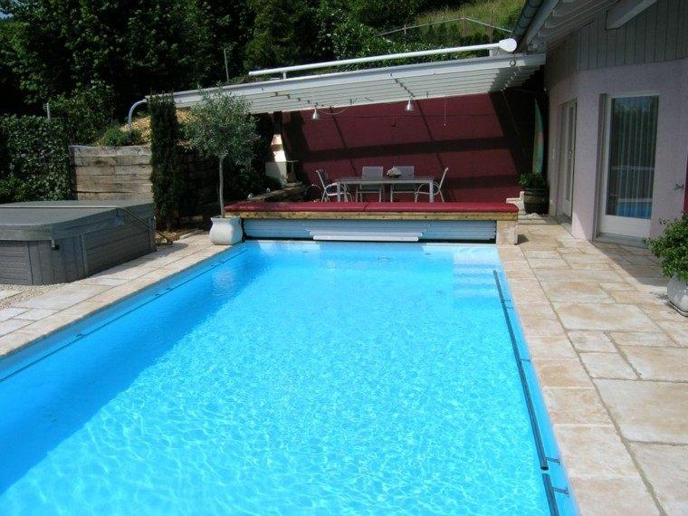 espacio terraza piscina fiesta cubierta