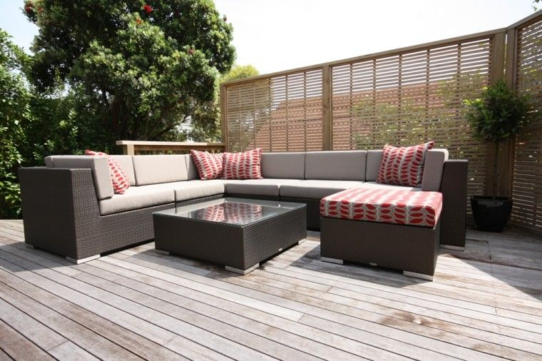 espacios exterior amplios sofas grandes ideas