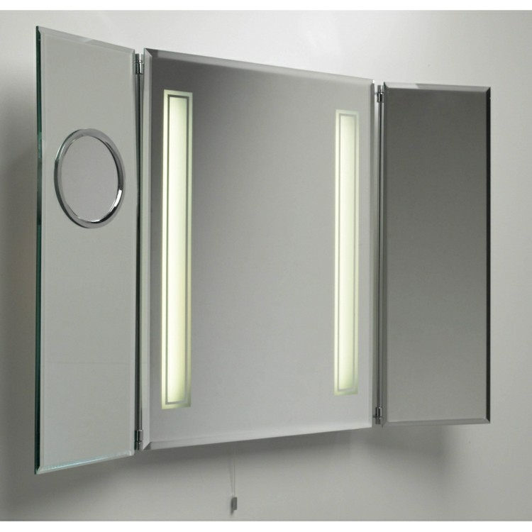 Botiquin para ba o moderno for Focos para espejos de bano