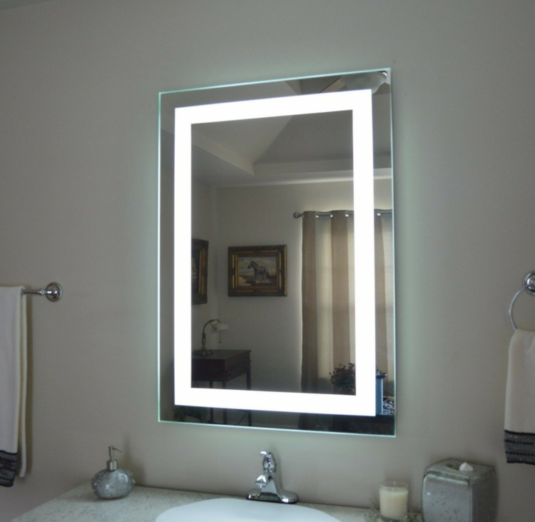 Espejos iluminacion y estilo en 50 incre bles propuestas for Espejos para banos con luz incorporada