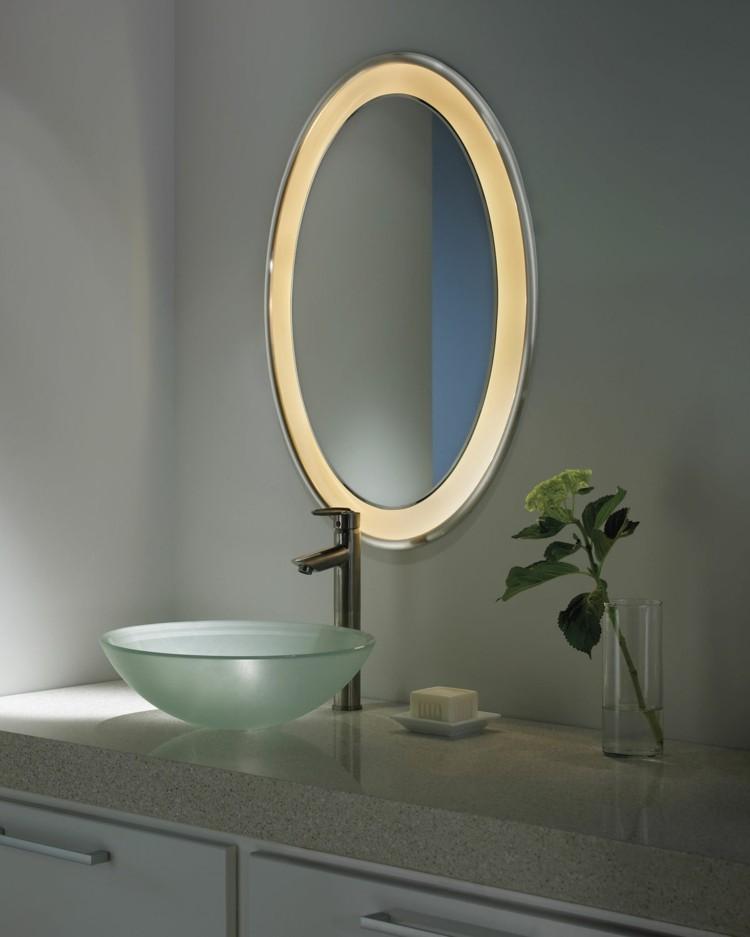 espejos iluminacion lavabo moderno marco