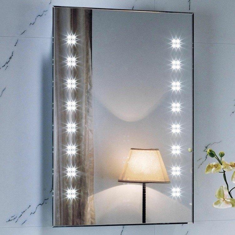 Espejos iluminacion y estilo en 50 incre bles propuestas - Focos para espejos de bano ...