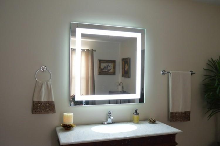 espejos iluminacion toalla luces vela