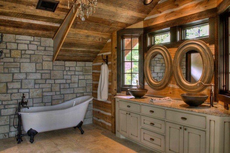 espejos redondos bano decoracion bañera