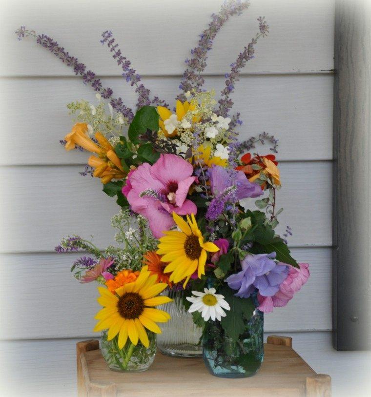 espigas flores diseño diy colorido