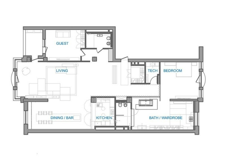 esquema diseno casa arquitectos zonas