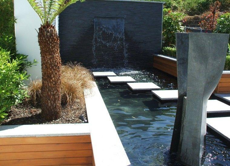 estanque estilo moderno fuente agua diseo fuente de agua pinterest water fountains and fountain