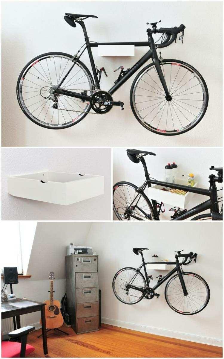 estanteria colgar bicicleta pared