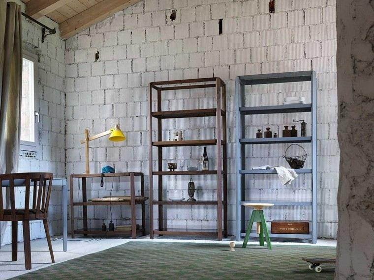 estanterias abiertas madera diseno muebles ideas