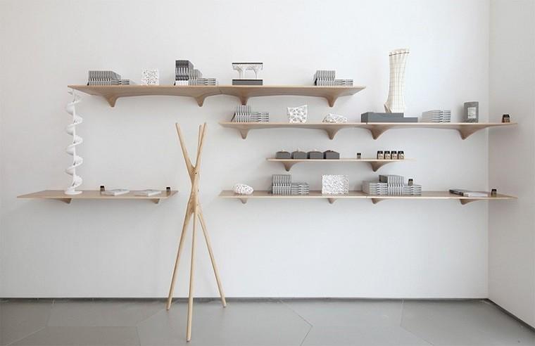 estanterias madera contrachapada bonitas decoraciones ideas