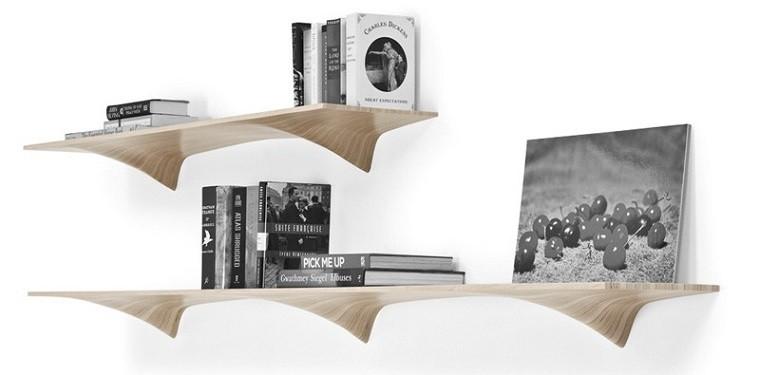 estanterias de madera contrachapada bonitas modernas ideas