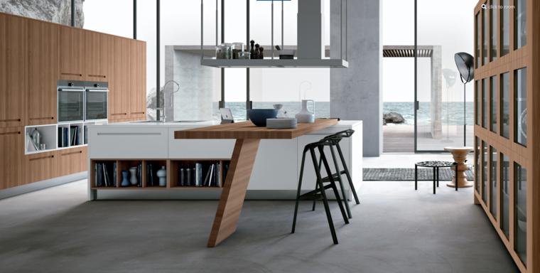estilo minimalista cocina moderna isla ideas