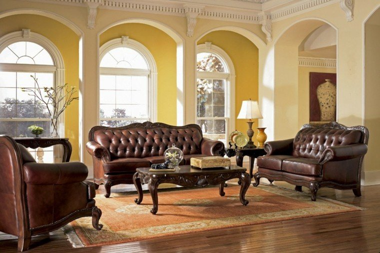 estilo vicoriano tradicional muebles salon moderno ideas