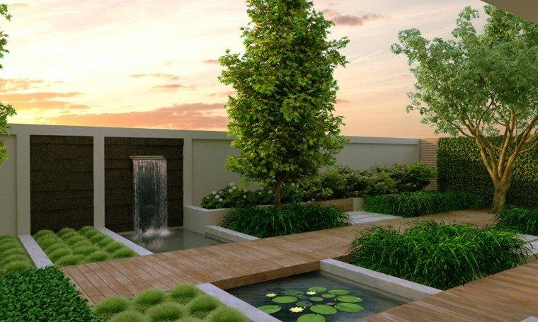 estupenda cascada foto portada jardin