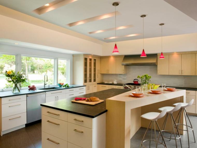 Dise o de cocinas modernas 100 ejemplos geniales for Muebles de cocina modernos con isla