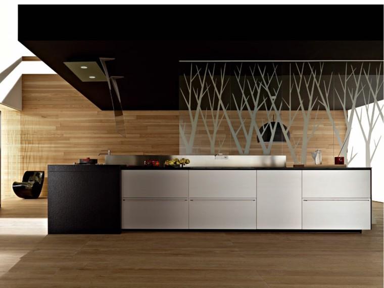 Dise o de cocinas modernas 100 ejemplos geniales - Revestimiento de paredes de cocina ...