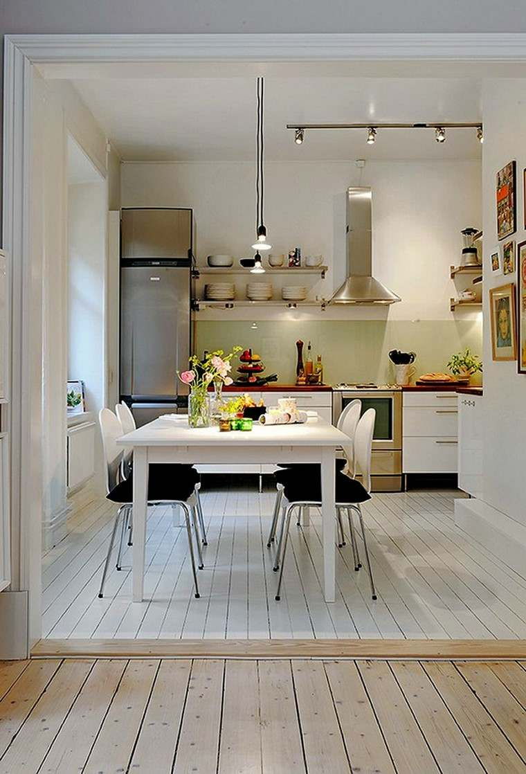 Dise o de cocinas modernas 100 ejemplos geniales - Ejemplos cocinas pequenas ...