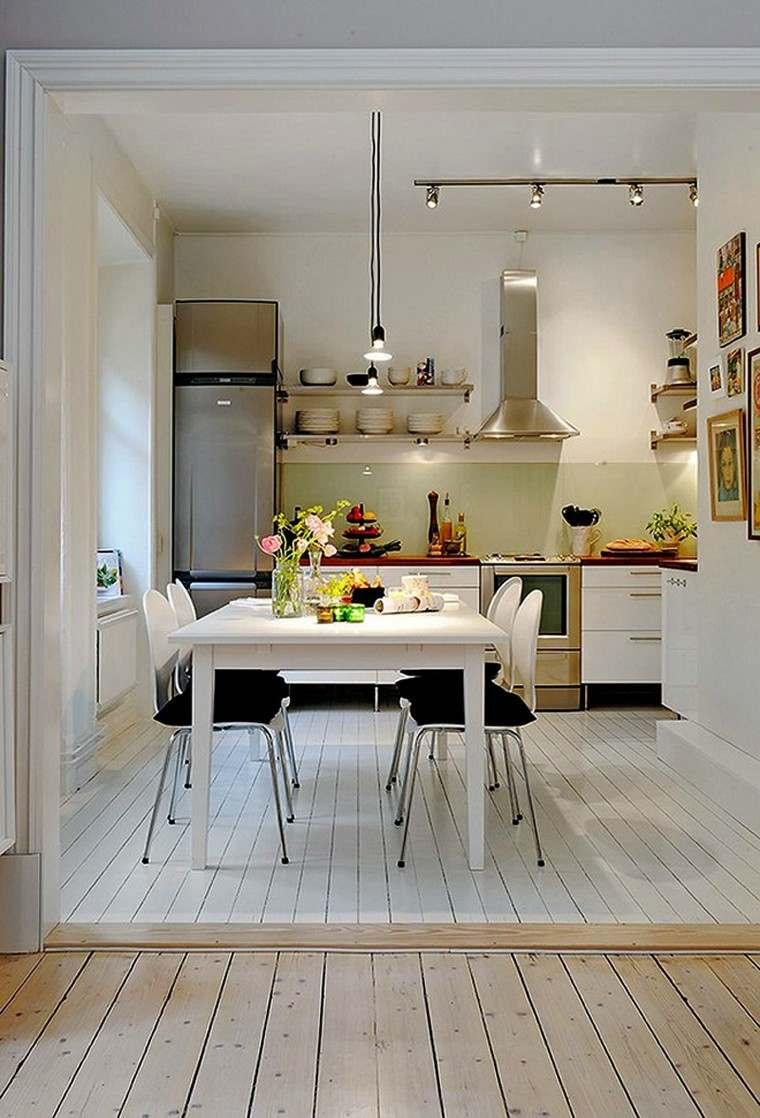 Dise o de cocinas modernas 100 ejemplos geniales - Cocinas comedor modernas ...