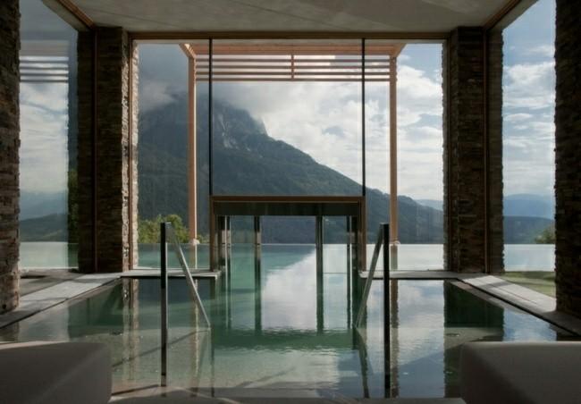 estupenda piscina cubierta vistas montaña