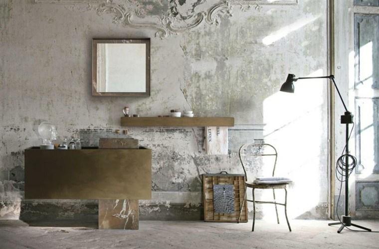estupendo diseño baño pared desgastada