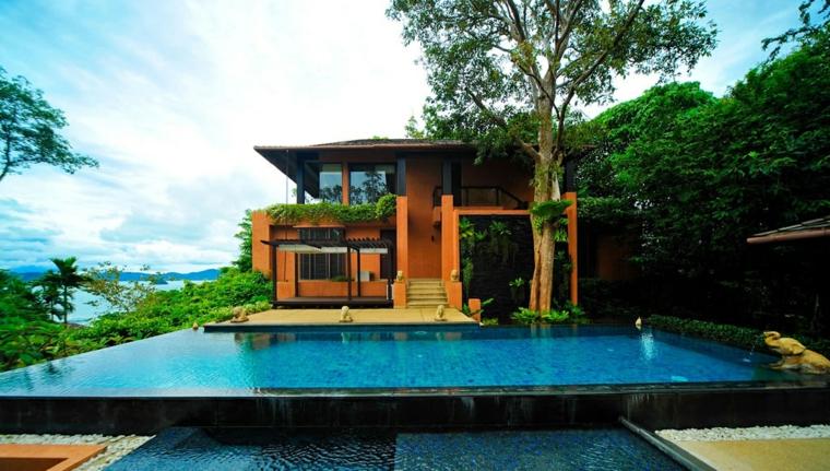 Mirador con piscina setenta y cinco estupendas ideas for Casas con jardin y piscina