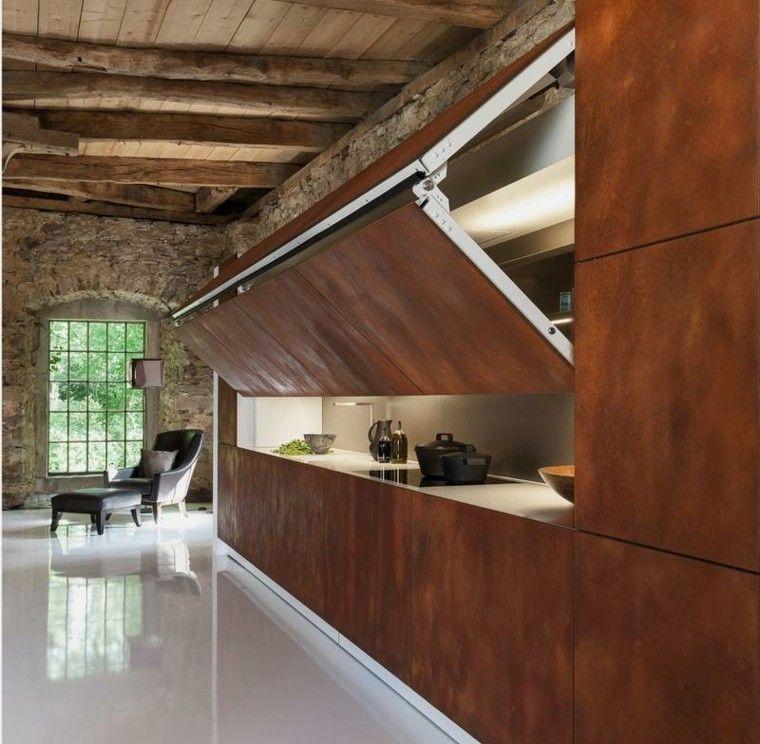 estupendo diseño de cocinas rustica