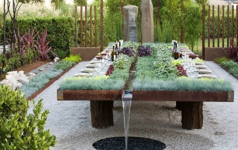 estupendo diseño fuente cascada mesa