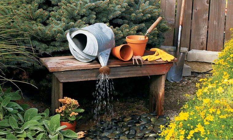 estupendo diseño fuente agua regadera