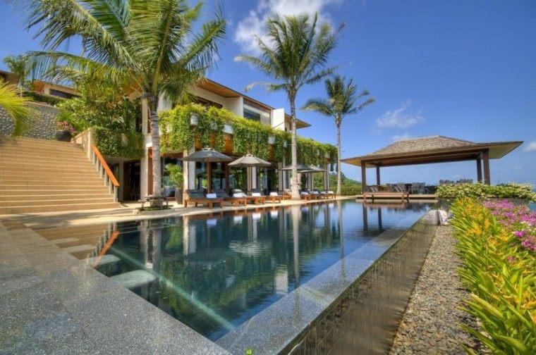 estupendo diseño jardin estilo tropical