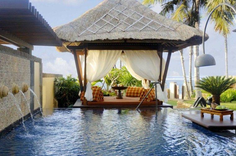 estupendo diseño mirador tropical jardin